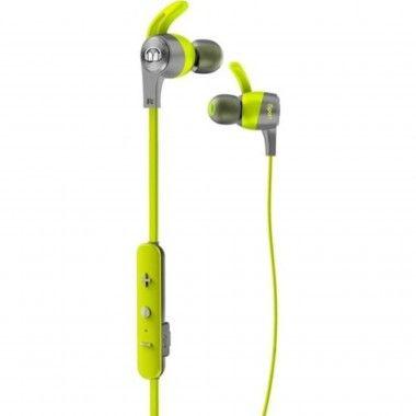 Auricular Bluetooth Monster iSport Achieve com micro Verde