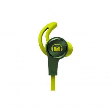 Auricular Monster iSport Achieve com micro verde