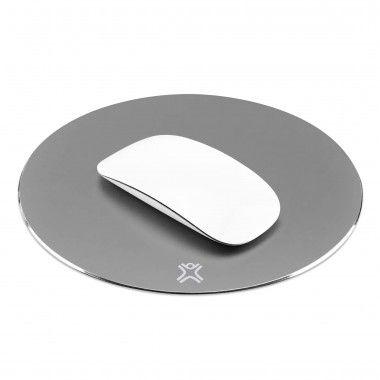 Tapete de rato redondo em alumínio