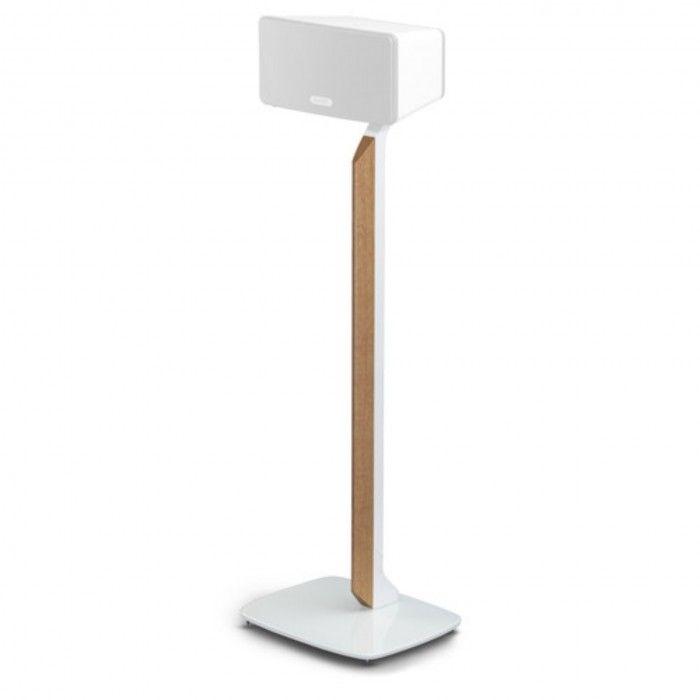 Suporte de chão premium para Sonos Play 3 branco/Oak (unid.)