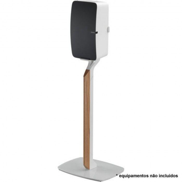Suporte de chão premium para Sonos Play 5 G2 Branca / OAK(Un