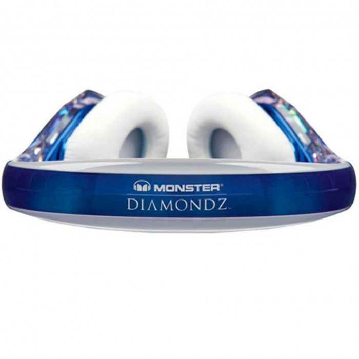 Auscultador Monster Diamond Tears Azul