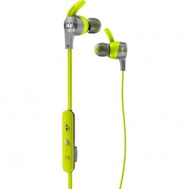 Auricular Bluetooth Monster iSport Achieve com micro Verde