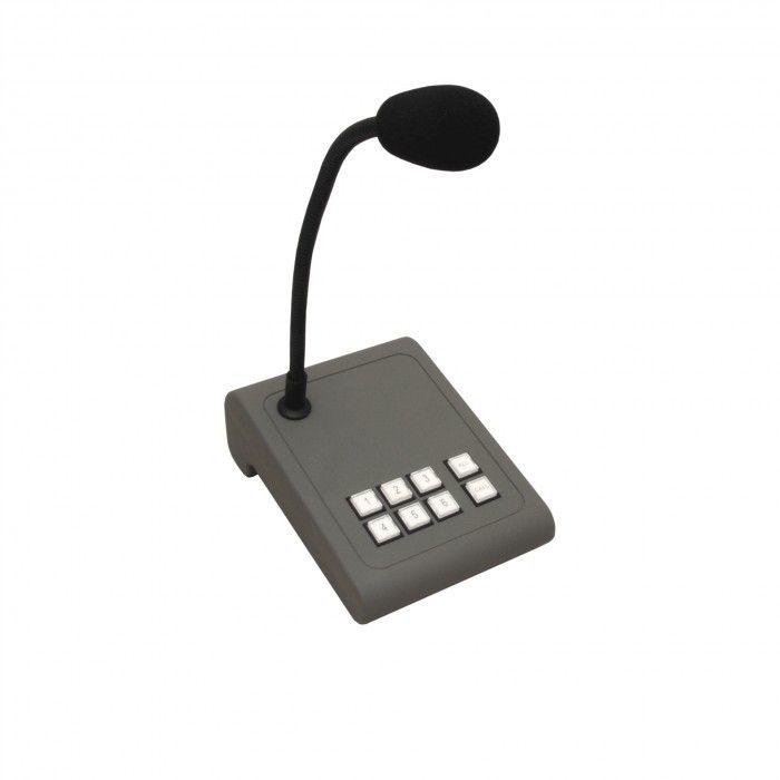 Microfone de paging para 6 zonas Apart Mic PAT 6