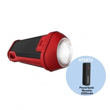 Coluna bluetooth Monster Superstar Firecracker Vermelha