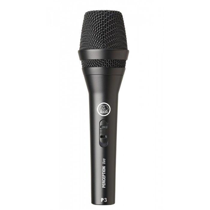 Microfone dinâmico para voz e instrumentos AKG P3 S